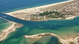 Portugal Tavira Island aerial view from the north